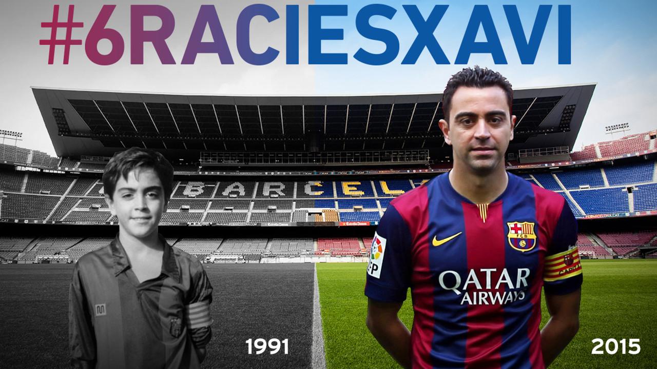 Xavi Hernández: Blaugrana en la etapa 1991-2015