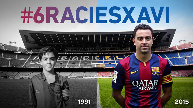 Xavi Hernández has been at the club from 1991 to 2015