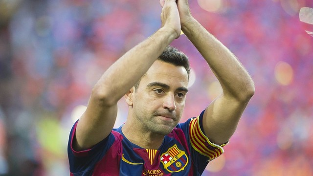 Xavi Hernández says goodbye to Barça after a lifetime of achievement. / VÍCTOR SALGADO-FCB