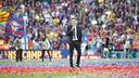 Luis Enrique qui parle au Camp Nou / VÍCTOR SALGADO - FCB