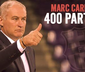 Marc Carmona ha dirigit 400 partits a la banqueta del Barça