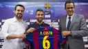 Ricard Muñoz, Xavi Costa y Ramon Vidal-Abarca, este lunes / VÍCTOR SALGADO-FCB