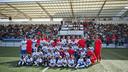 El Barça, representado con el B y el Juvenil A, estuvo en Premià por su centenario / FCB-VICTOR SALGADO