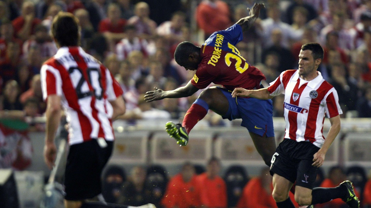 O gol de Touré Yaya na final da Copa de 2009 / MIGUEL RUIZ-FCB