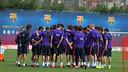 Les joueurs à la Ciutat Esportiva / MIGUEL RUIZ-FCB