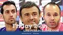 Sergio, Iniesta & Luis Enrique press conference