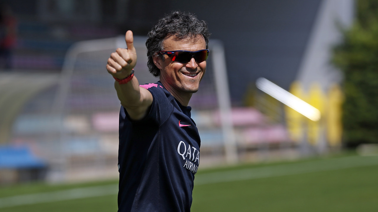 Luis Enrique excited about the Cup final / MIGUEL RUIZ - FCB