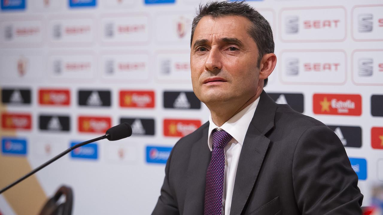 Valverde in his press conference ahead of the final / MIGUEL RUIZ-FCB