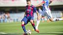 Munir, en la acción del primer gol de la tarde en el Miniestadi / VÍCTOR SALGADO-FCB