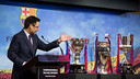 Bartomeu takes stock of the Club in a special assembly on Tuesday. / GERMÁN PARGA-FCB