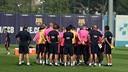 Imagen de un entrenamiento de la temporada 2014/15 / MIGUEL RUIZ-FCB