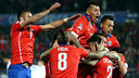 Chile celebrate against Bolivia / CA2015.COM