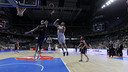 Ante Tomic leaps to try and block Jaycee Carroll's floater in Game Two on Sunday.  / ACB.COM