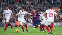 Messi was amazing in the 5-1 defeat of  Sevilla at the Camp Nou last season / GERMÁN PARGA-FCB