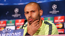 Mascherano thinks Argentina have to maintain possession to win in the Copa América. / MIGUEL RUIZ - FCB