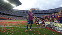 Xavi on the day of the tribute at the Camp Nou / MIGUEL RUIZ-FCB
