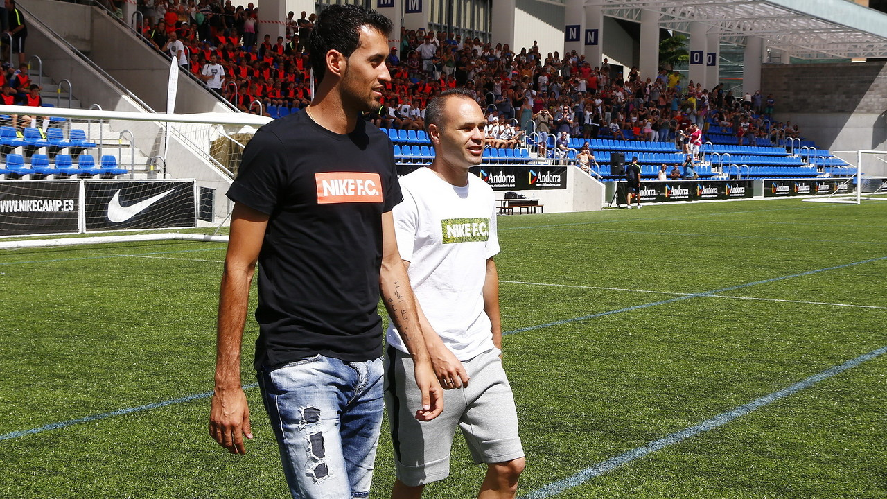 Busquets and Iniesta in Andorra / NIKE