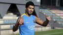 Luis Suárez, este martes por la mañana / MIGUEL RUIZ-FCB