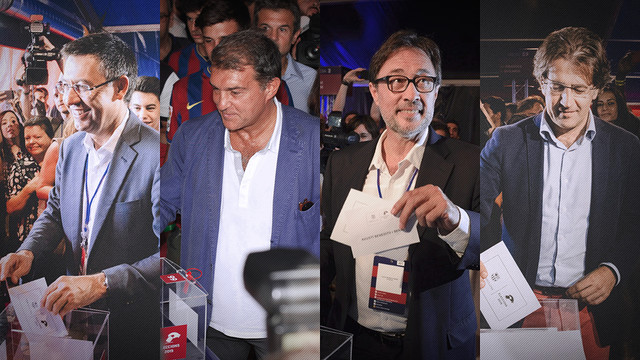 The four candidates vote / FCB