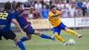 El argentino Maxi Rolón fue protagonista después de marcar dos goles / VICTOR SALGADO-FCB
