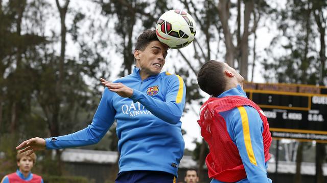 Marc Bartra in training in San Francisco / MIGUEL RUIZ - FCB