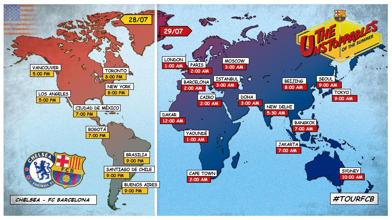 Nombre de rencontre entre chelsea et barcelone