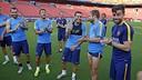 Pedro a fêté ses 28 ans avec ses coéquipiers / MIGUEL RUIZ-FCB