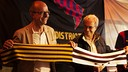 Jordi Cardoner and Silvio Elías visiting the Penya Barcelonista de Washington DC / MIGUEL RUIZ - FCB