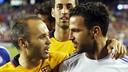 Les retrouvailles entre Fabregas et Iniesta