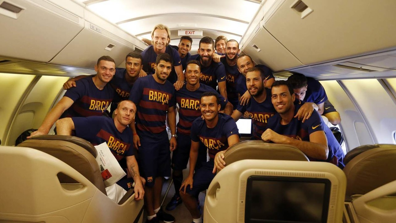 The Barça players have spent plenty of time on planes this last ten days / MIGUEL RUIZ - FCB