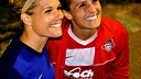 Ali Krieger and Ashley Harris were speaking to the Barça TV cameras