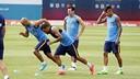 Messi, Mascherano, Neymar et Alves ont repris le chemin de l'entraînement cet après-midi