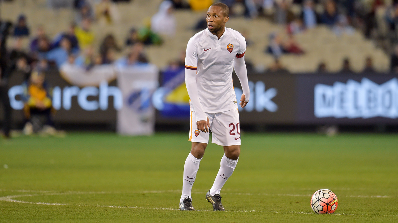 Seydou Keita in a recent friendly for Roma / ASROMA.IT