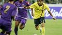Dani Alves, durante el amistoso jugado en Florencia el verano de 2008 / MIGUEL RUIZ - FCB