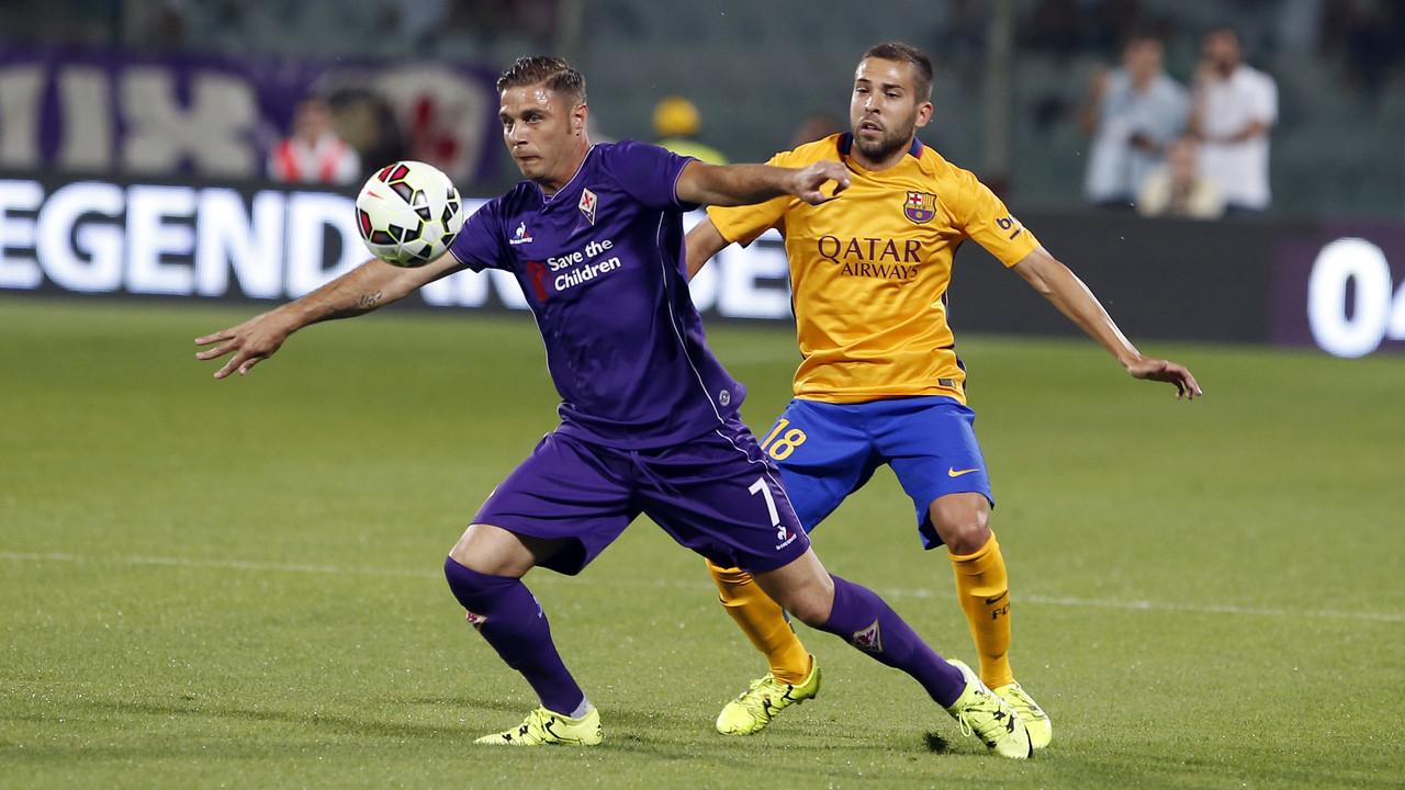 Jordi Alba y Joaquín, durante el partido de la Fiore / MIGUEL RUIZ - FCB