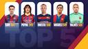 Le top 5 des joueurs du Barça / FCB