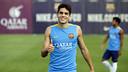 Bartra, durant l'entrenament / MIGUEL RUIZ - FCB
