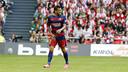 Dani Alves suffered a groin strain in San Mamés / MIGUEL RUIZ - FCB
