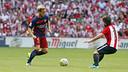 Rakitic on the ball against Athletic / MIGUEL RUIZ - FCB