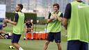 Sergi Roberto, pendant l'entrainement de ce matin / MIGUEL RUIZ - FCB