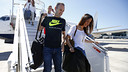 Andrés Iniesta, and his wife arriving at Nice airport / MIGUEL RUIZ - FCB