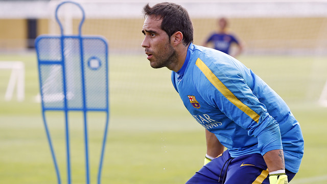 Claudio Bravo in training / MIGUEL RUIZ-FCB