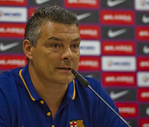 Xavi Pascual, en rueda de prensa / ARCHIVO FCB