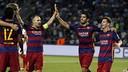 Les joueurs du Barça lors de la Supercoupe d'Europe / MIGUEL RUIZ - FCB
