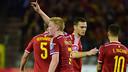 Thomas Vermaelen celebrating De Bruyne's goal / UEFA.COM