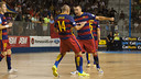 Alegria de Lozano and Ferrao in action this season / FCB Archive