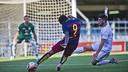 Dongou, durante el partido contra la Pobla / VÍCTOR SALGADO