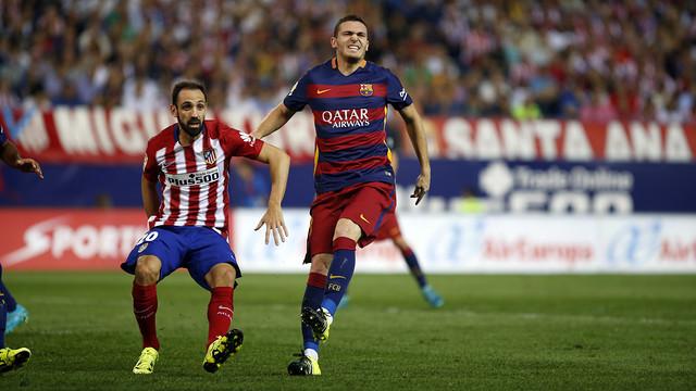 Thomas Vermaelen suffers calf strain in Vicente Calderón / MIGUEL RUIZ - FCB
