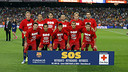 The Barça team with the special campaign t-shirt / MIGUEL RUIZ - FCB