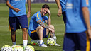 Messi, pendant un entrainement / MIGUEL RUIZ - FCB